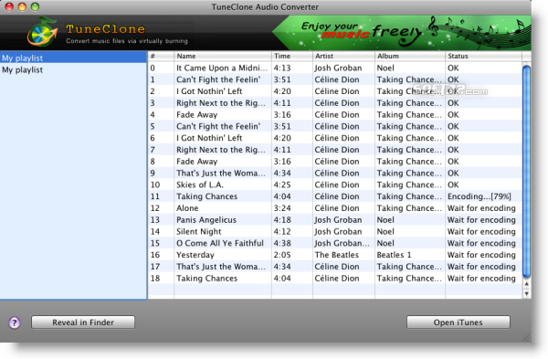 TuneClone Audio Converter for Mac Screenshot 2