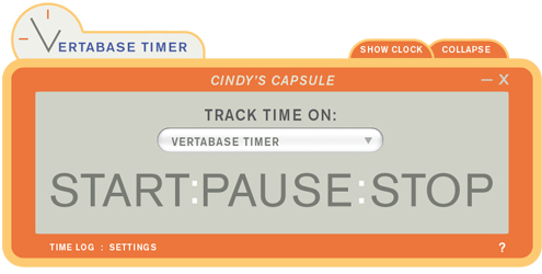 Vertabase Timer Screenshot