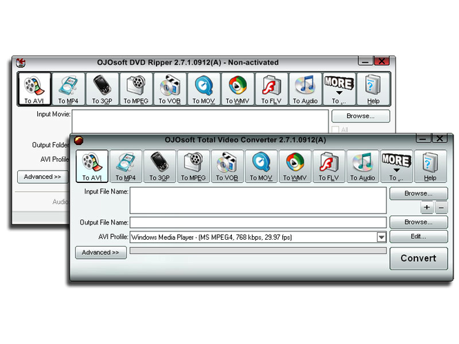 OJOsoft DVD Video Converter Suite Screenshot