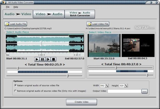 A4 Audio Video Converter Screenshot 2