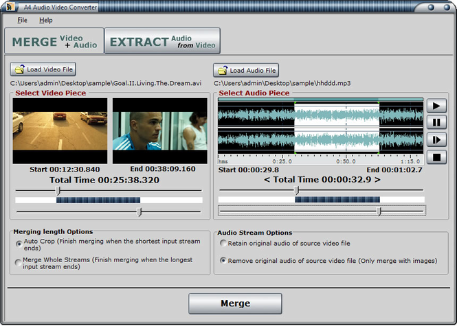 A4 Audio Video Converter Screenshot 1