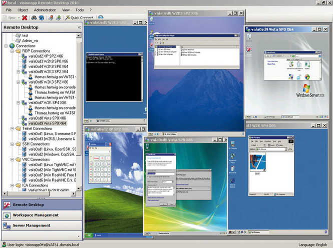 visionapp Remote Desktop Screenshot