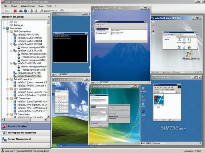visionapp Remote Desktop Screenshot 2