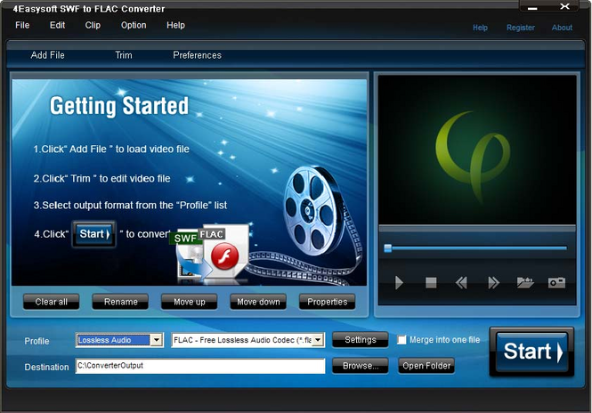 4Easysoft SWF to FLAC Converter Screenshot