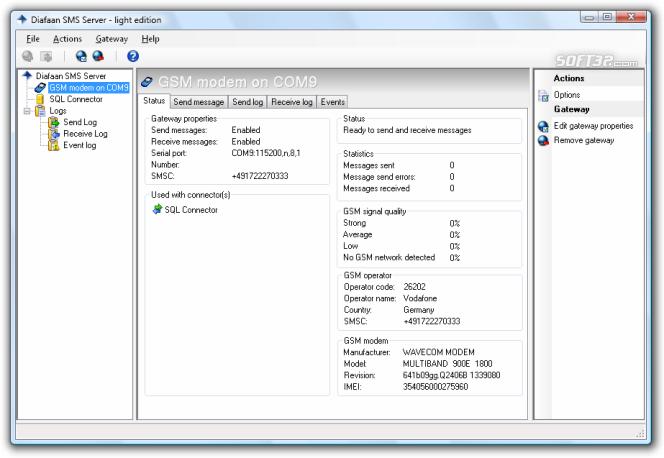 Diafaan Message Server - light edition Screenshot 3