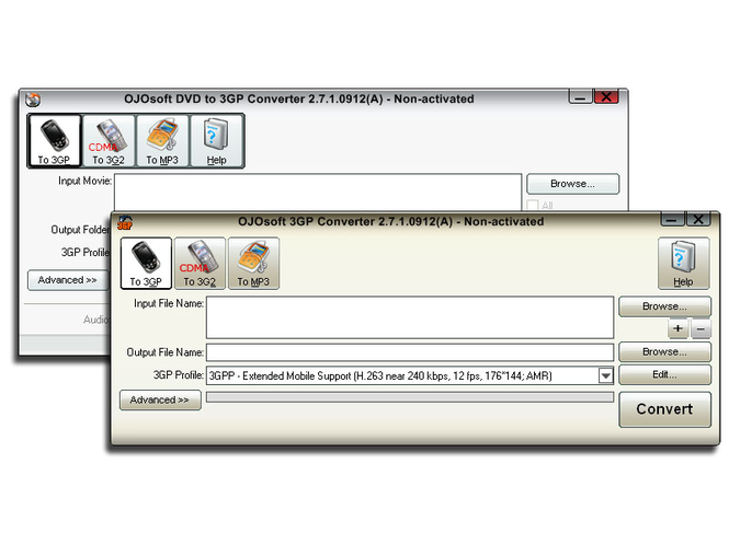 OJOsoft DVD 3GP Converter Suite Screenshot