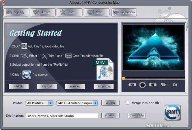 Aiseesoft M4V Converter for Mac Screenshot 3
