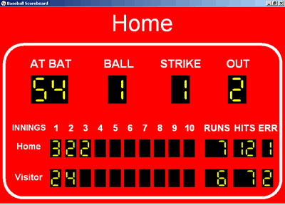 Baseball Scoreboard Screenshot 1