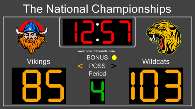 Basketball Scoreboard Standard Screenshot 1