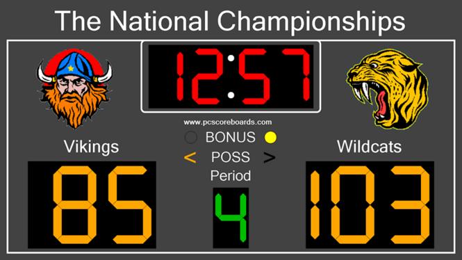 Basketball Scoreboard Standard Screenshot