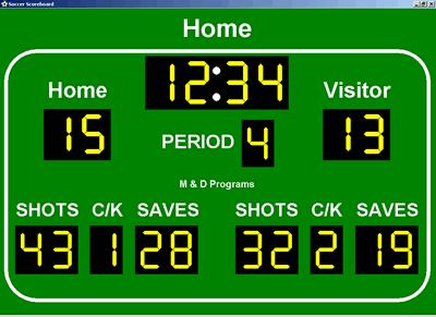 Soccer Scoreboard Screenshot