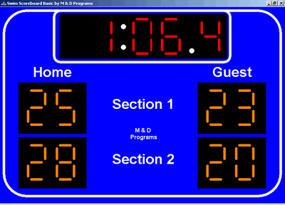 Swim Scoreboard Basic Screenshot