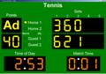 Tennis Scoreboard 1