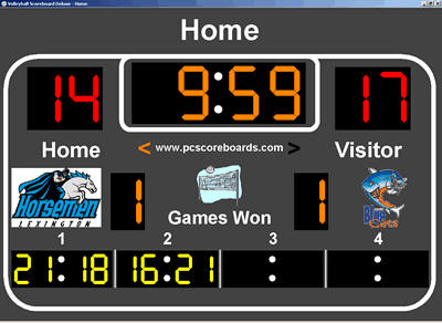 Volleyball Scoreboard Deluxe Screenshot