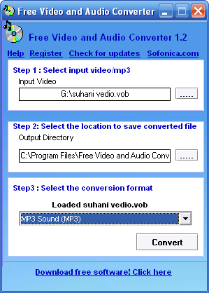 Sofonica Video and Audio Converter Screenshot
