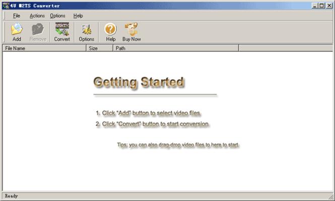 4U M2TS Converter Screenshot