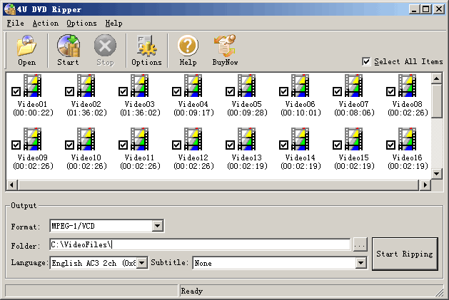 4U DVD Ripper Screenshot