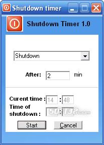 Free Shutdown Timer Screenshot 2