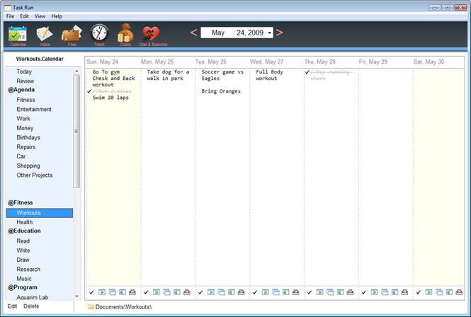 Weekly Planner Screenshot 1