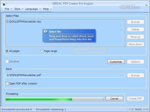 PDF Creator Pro Screenshot 2