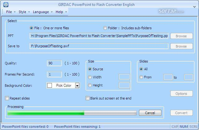PowerPoint to Flash Converter Screenshot 2