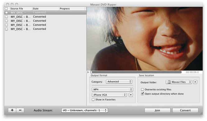 Movavi DVD Ripper for Mac Screenshot