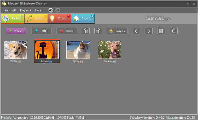 Movavi Slideshow Creator Screenshot 2