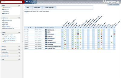 N-central Network & Systems Management Screenshot