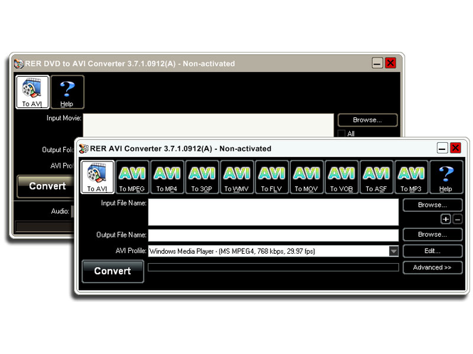 RER DVD AVI Converter Pack Screenshot 1