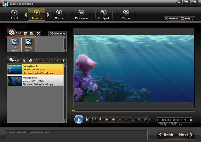 Womble EasyDVD Screenshot
