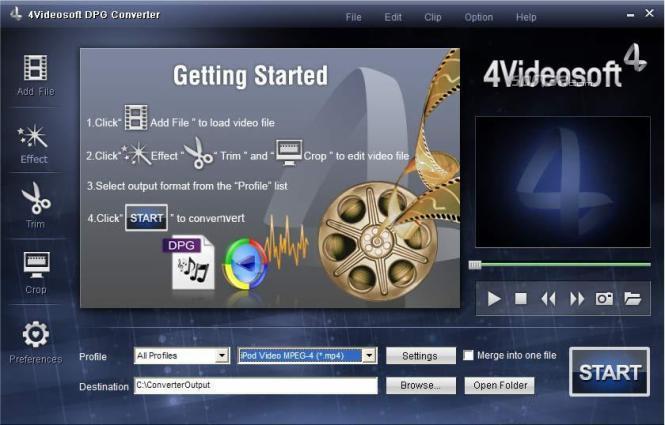 4Videosoft DPG Converter Screenshot 3