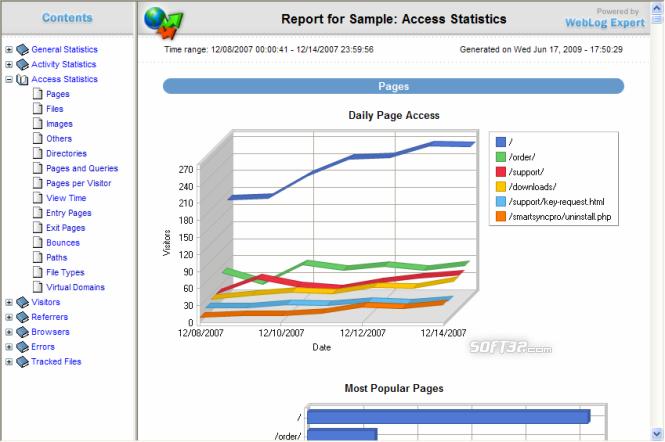 WebLog Expert Screenshot 3