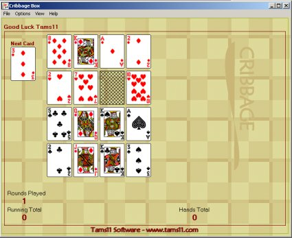 Tams11 Cribbage Box Screenshot