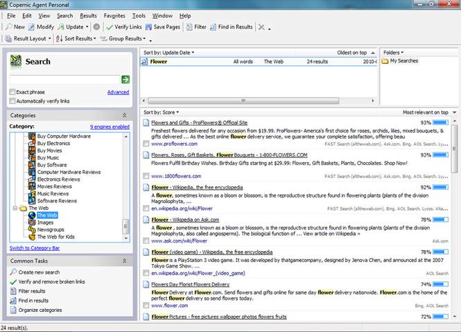 Copernic Agent Basic Screenshot