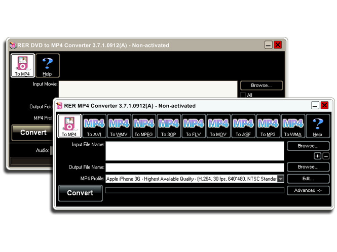 RER DVD MP4 Converter Pack Screenshot 2