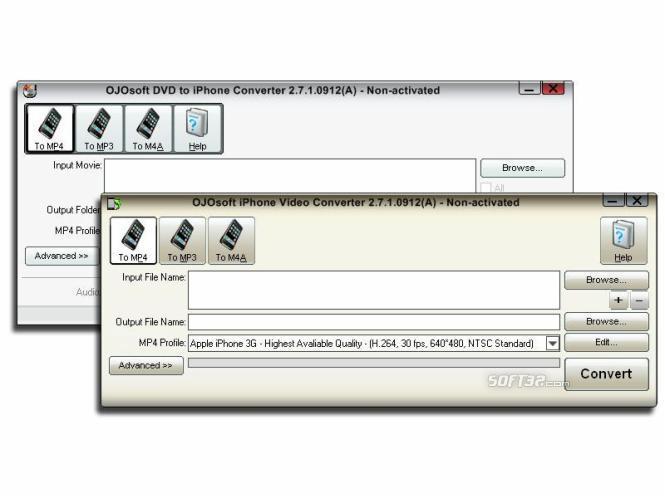 OJOsoft DVD iPhone Converter Suite Screenshot 3