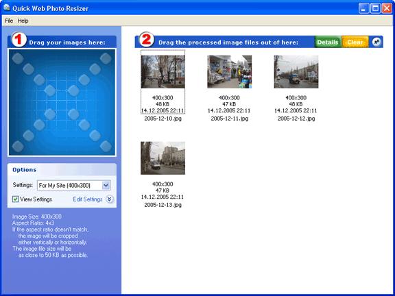 Quick Image Resizer Screenshot 1