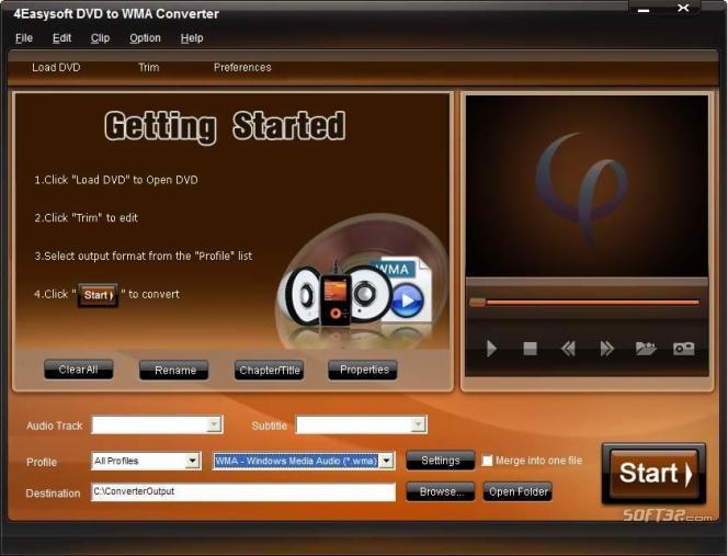 4Easysoft DVD to WMA Converter Screenshot 3