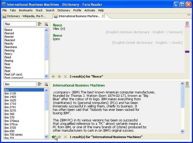 Fora Reader Screenshot