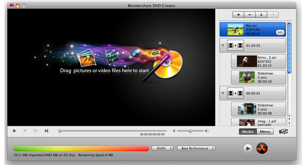 Wondershare DVD Creator for Mac Screenshot 1