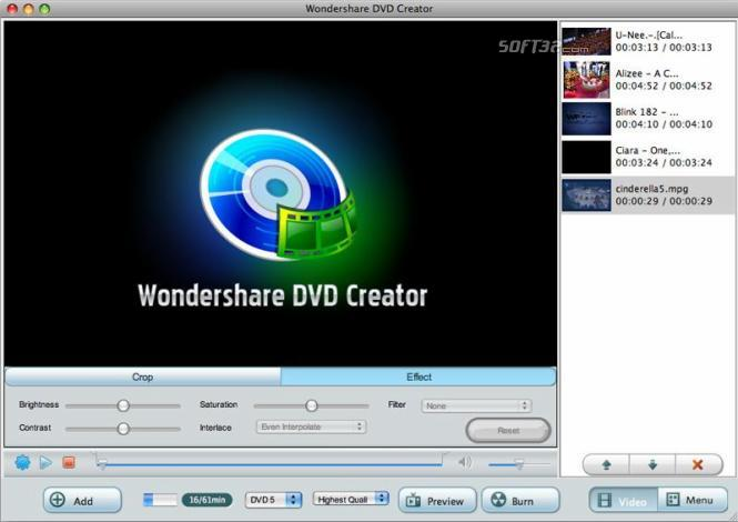 Wondershare DVD Creator for Mac Screenshot 3