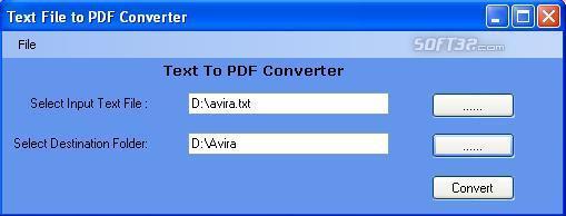 Text To PDF Creator Screenshot 3