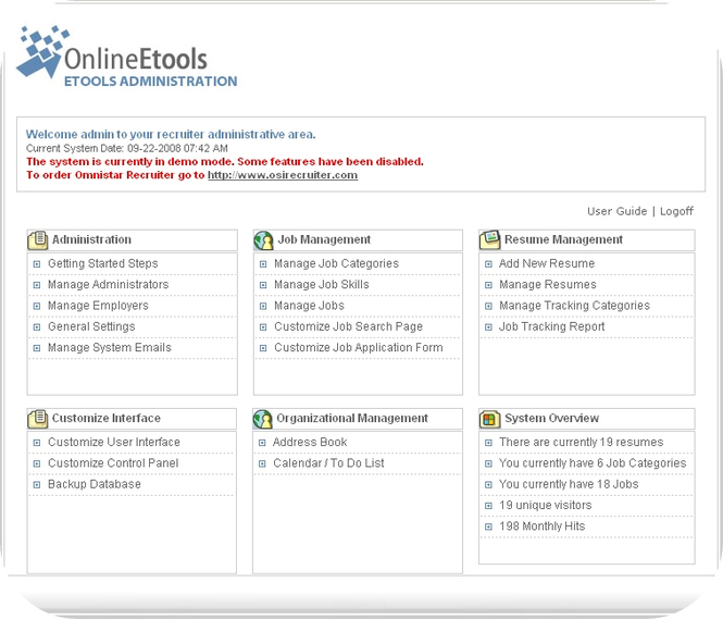 Omnistar Staffing Software Screenshot