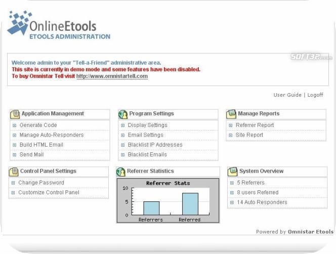 Omnistar Tell A Friend Software Screenshot 3
