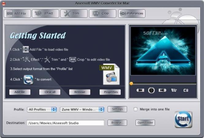 Aiseesoft WMV Converter for Mac Screenshot 3