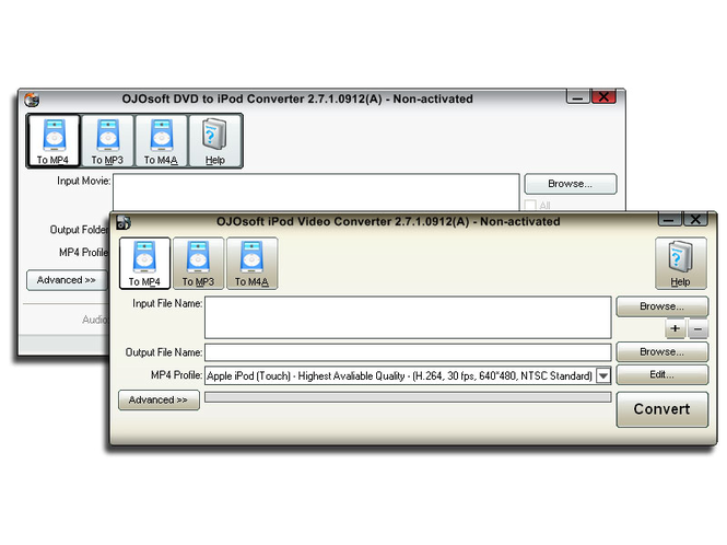 OJOsoft DVD iPod Converter Suite Screenshot