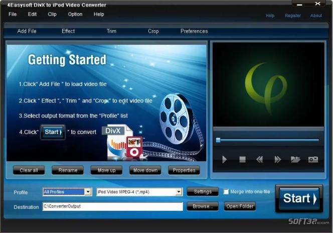 4Easysoft DivX to iPod Video Converter Screenshot 3