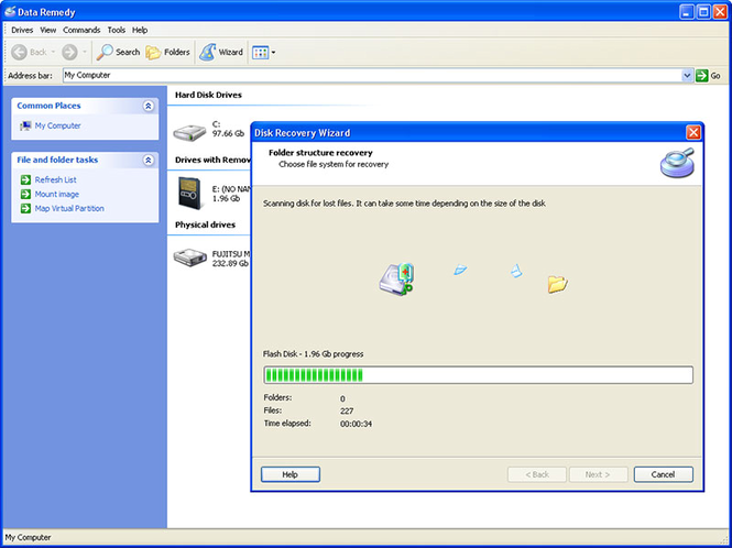 Disk Data Recovery Screenshot