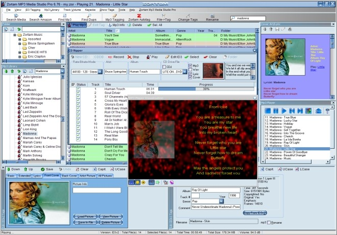 Zortam Mp3 Center Screenshot