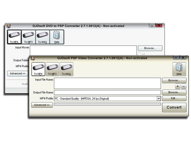 OJOsoft DVD PSP Converter Suite Screenshot 1